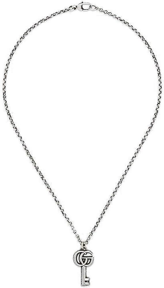 Gucci collana da donna in argento sterling con finitura anticata YBB62775700100U