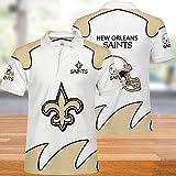 NFL T-Shirts Super Bowl New Orleans Saints Maillot Football Américain Hommes Polo-Shirts pour Les Hommes Et Les Femmes T-Shirt Supporters-Football Fans Rugby Football Unisexe XXL