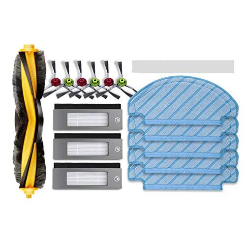Cobeky Cepillo lateral y cepillo de rodillo para limpiar el filtro de trapo, utilizado para barredora Deebot T8