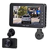 Dual Dash Cam Car Camera with Sony Sensor,FHD 1080P Front and 720P Inside