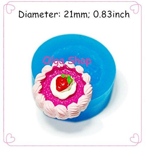 G191 moule fimo moule silicone tarte fraise (21mm)