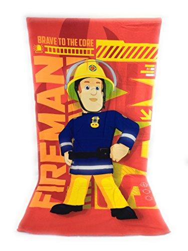 Sam le Feuerwehrmann Strandtuch, Strandtuch aus Mikrofaser – 70 x 140 cm Fireman Sam