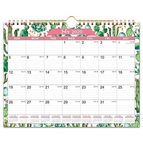 """2020-2021 Calendar - 18 Monthly Wall Calendar, 11"""" x 8.5"""", Jul. 2020 - Dec. 2021, Twin-Wire..."""