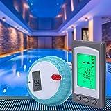 Verano encantador Termómetro digital, termómetro de agua remoto inalámbrico Suministros industriales para piscinas/estanque de peces