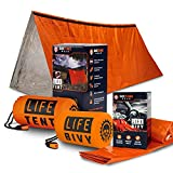 Go Time Gear Life Bivy Emergency Sleeping Bag Thermal Bivvy and Life Tent Emergency Survival Shelter Bundle