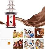 Cyg Schokoladenbrunnen, Komplett Automatisch Schokobrunnen Klein Chocolate Fountain für Kindergeburtstage Und Hochzeiten Schokofondue - 6