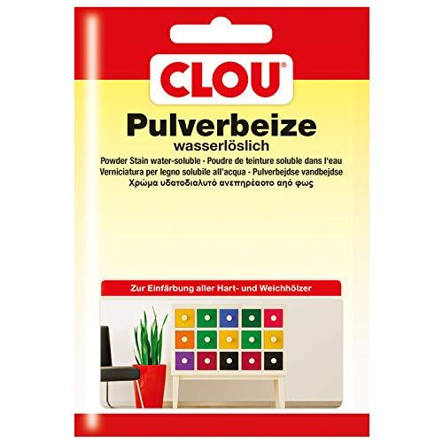 Clou Beutelbeize Pulverbeize Wasserbeize 174 Schwarz 0,012 Kg