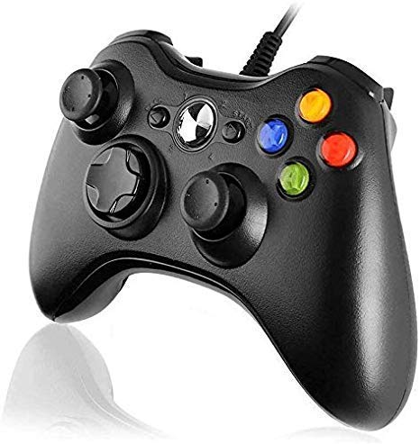 MrDeal Xbox 360 Wired Controller, Wired USB Game Controller Gamepad Joystick with Dual Vibration and Shoulders Buttons for Microsoft Xbox 360/Xbox 360 Slim/PC Windows 7/8/10 (Black)
