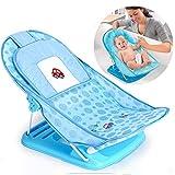 Baby Duschstuhl, Faltbare Neugeborene Atmungsaktive Duschmatte, Baby Duschgestell mit Netztasche, Badewannennetz Geeignet für Badewanne