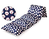 Ohnanana Softball Floor Lounger Seats Cover and Pillow Cover Made of Soft Plush,Perfect for Sleepovers Party,Lounger, Seating,Nap Mat,Reading Nook,Playing,Chair.Cover Only