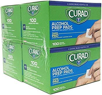 400-Count Curad Thick Alcohol Prep Swabs Pads