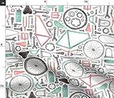 Jungen, Fahrrad, Räder, Zahnräder Stoffe - Individuell