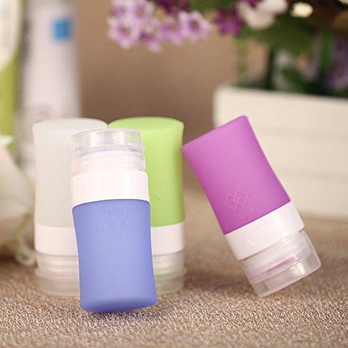 Generic 60 ml: 4 Stück/Set leere Silikon-Verpackungspresse für Lotion, Shampoo, Behälter, 38 ml/60 ml/80 ml, Make-up-Flaschen, nachfüllbar, für Reisen