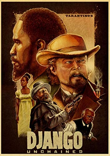 Quentin Tarantino Serie Film Django Unchained Poster Kraftpapier Druck Wandkunst Gemälde Vintage Poster Home Decor E082,42 x 30 cm