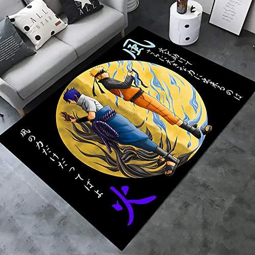 Teppich mit 3D-Digitaldruck, Superhelden-Naruto-Grafik, Teppich für Sofa, Fußmatte, Küche, Schlafzimmer, Familienspiel, rutschfeste Matten für Zimmer, Flur, Arbeitszimmer