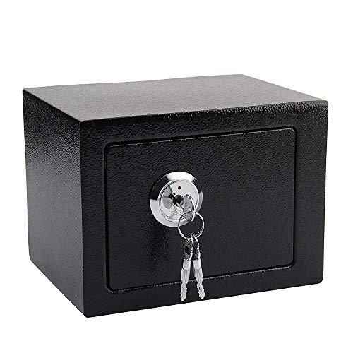 Caja Fuerte Llaves, Portatil Empotrable PequeñA Acero SóLido Alta Seguridad Almacenamiento De Dinero En Efectivo De La Oficina del Hotel, Black