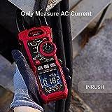 KAIWEETS 208A Digital Pinza Amperimétrica Profesional para medir 1000A CA Corriente y Tensión, T-RMS, InRush, VFD, Autorango, NCV, Amperímetro de Capacitancia, Resistencia, Bateria