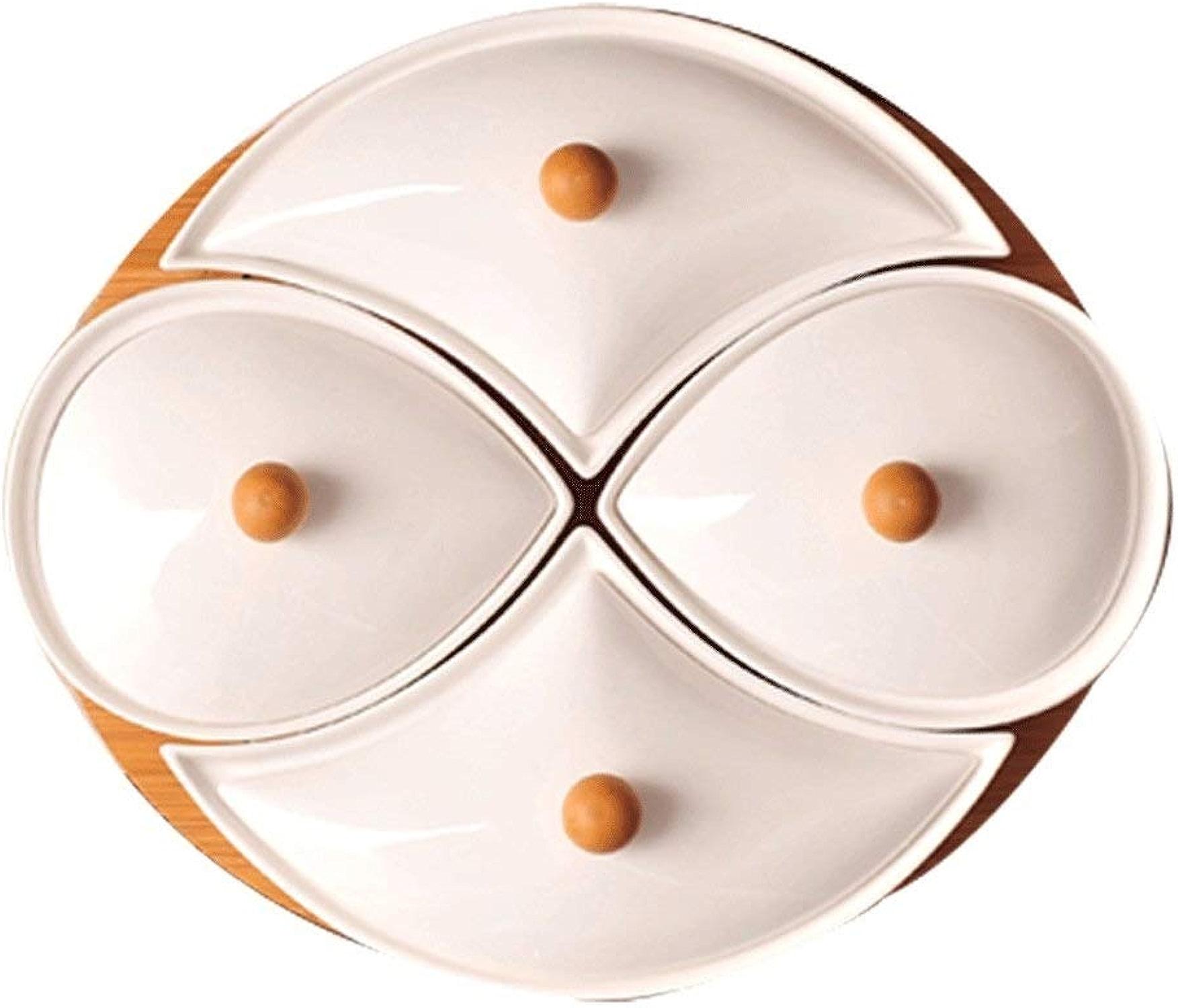 YCL Bols Plateau de RangeHommest Multi-Grille pour Noix Simple ménage Nordic Assiette de Fruits séchés en céramique de Haute qualité