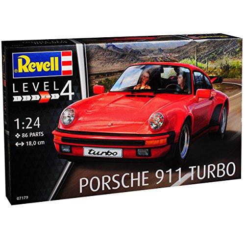 Revell Porsche 911 Turbo Coupe Rot G-Modell 1973-1989 07179 Bausatz Kit 1/24 Modell Auto mit individiuellem Wunschkennzeichen