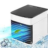 FUSIYU Mini enfriador de aire, mini aire acondicionado portátil 3 en 1, enfriador de aire y humidificador, ventilador y purificador con 3 velocidades ajustables, hogar y la oficina