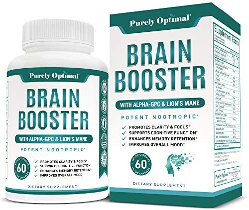 Premium Brain Supplement Nootropic Brain Booster for Focus Clarity Improved Memory Concentration product image
