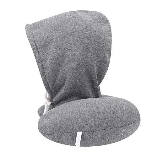 Reiskussen, traagschuim nek Reiskussen met capuchon U-type dutje Kussen Cervicale ondersteuning Beschermkussen met hoed voor vliegtuig Reistrein