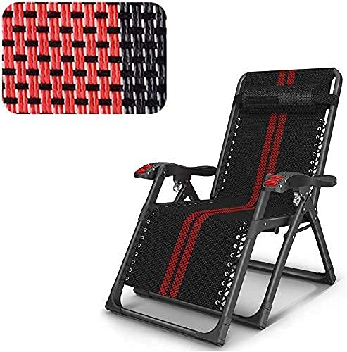 Patio Lounge Chairs Adjustable Folding Chair Recliner Chairs Aluminum Practical Folding Bed Recliner Adjustable Light Foldable Weatherproof Outdoor Furniture Comfortable Four Seasons