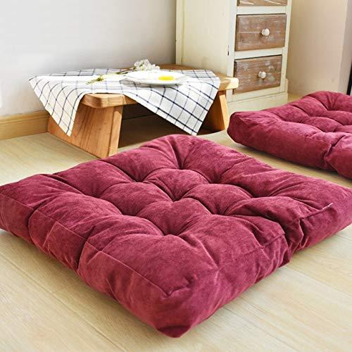 RAQ Zitkussen van katoenen fluweel voor stoel, yogakussen voor bureaustoel, zacht, voor auto, zitkussen, winterkussens 55x55cm 1 x Polsband
