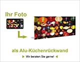 Küchenrück-Wand Artland Küchenspiegel Spritzschutz Hightech-Aluminium-Verbundplatten Eva Gruendemann Nordseestrand auf Langeoog – Steg in verschiedenen Größen und Farben erhältlich - 5