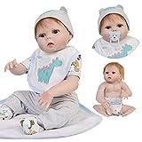 """ASDAD Bebe Boy Reborn Corpo De Silicone Inteiro 23""""57Cm Cuerpo Completo De Vinilo Silicona Reborn Baby Dolls Recién Nacido Menino Bonecas Realista"""