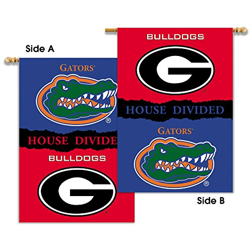 NCAA Georgia - Florida 2-Sided 28-by-40 inch House Banner with  Pole Sleeve- Rivalry House Divided