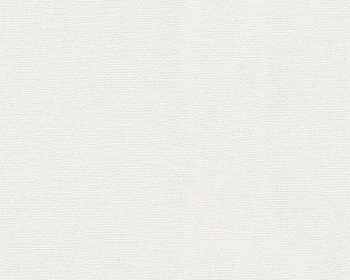 Schöner Wohnen 304073 Vliestapete Unitapete einfarbig, weiß, 10,05 m x 0,53 m