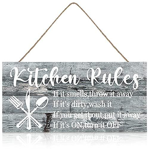 Placa rústica de madera para cocina con cuerda para el hogar