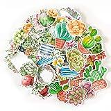Navy Peony Aquarell Kaktus und Blumen zusammengebundene Sticker Set   kleine wasserdichte Sticker für Laptop, Skateboards und Handyhüllen   süße Sticker für Scrapbooking, Tagebuch,...