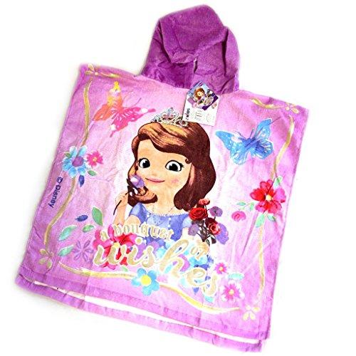 Poncho kind bademantel 'Princesse Sofia'lila.