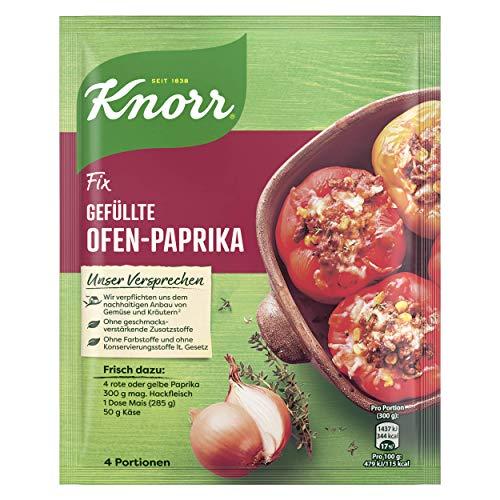 Knorr Fix Gefüllte Ofen-Paprika 4 Portionen (21 x 43 g)