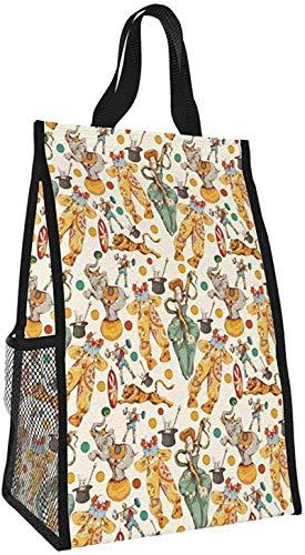 Bolso aislante plegable, bolso de picnic portátil de gran capacidad amarillo crema para el trabajo, viajes de oficina