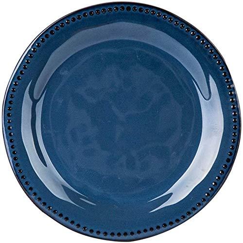 AWJ Plato de cena Placa redonda Placa de teca Retaurante Placa de espiral Wetern Placa de Pata