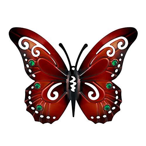 Hemoton Schmetterling zum hängen, Rost Deko Anhänger | Fensterdekoration Garten Edelrost | 36cm
