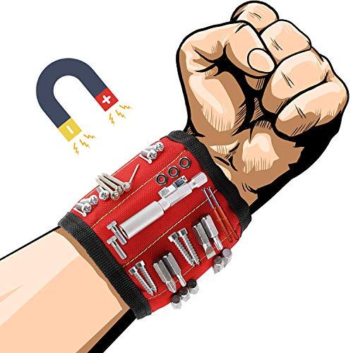 Muñequera Magnetica Con 600D Oxford Impermeable Potentes Imanes, Cinturon De Herramientas De...