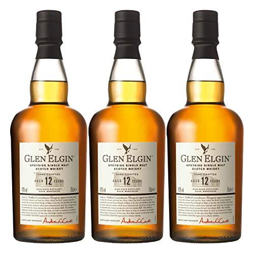 Glen Elgin Speyside 12 Years/Jahre, 3er, Single Pot Malt, Whisky, Scotch, Alkohol, Alokoholgetränk, Flasche, 43%, 700 ml, 550298