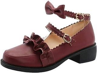 AicciAizzi Women Sweet Lolita Shoes Low Block Heels