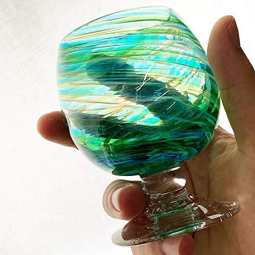 源河源吉琉球ガラス工房『琉球ガラス美ら海ブランデーグラス』