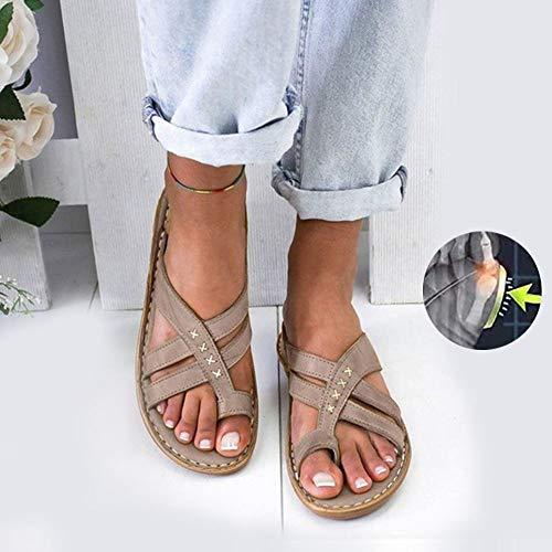 CCCS Bunion Splints, Damen Big Toe Hallux Valgus Unterstützung Plattform Sandale Schuhe Für Die Lässige rutschfest orthopâdische Sandalen Damen