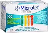 Microlet Colored Lancets 100 Each by Microlet