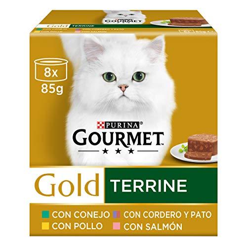 Purina Gourmet Gold Tarrine comida para gatos Surtido 12 x [8 x 85 g] 🔥