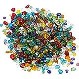 Nupuyai - Piedras preciosas para decoración (460 g), Cristal de Murano, multicolor