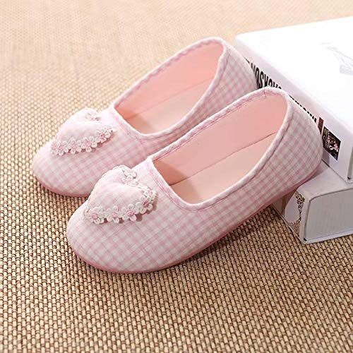 B/H Memory Foam Zapatos,Zapatos de Mes de Suela Suave Gruesa Transpirable de algodón Puro para Interiores-A_37