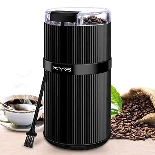 KYG Kaffeemühle Mini Kaffeebohnen Elektrisch Füllmenge 30g Kaffeemühle mit Edelstahl Schlagmesser für,Nüsse,Gewürze,Getreide
