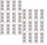 ~陰陽師による作製~ 結界シール(1シート・24枚)悪霊・怨霊・邪気払い・呪詛・呪術☆金縛り☆ポルターガイスト☆体調不良にも五芒星オリジナル24